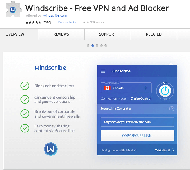 Windscribe - Free VPN