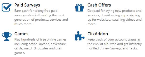Clixsense, Clixsense offers