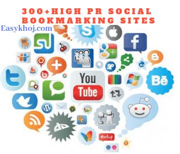 Top 300+ Do Follow Free High PR Social Bookmarking Sites list 2018