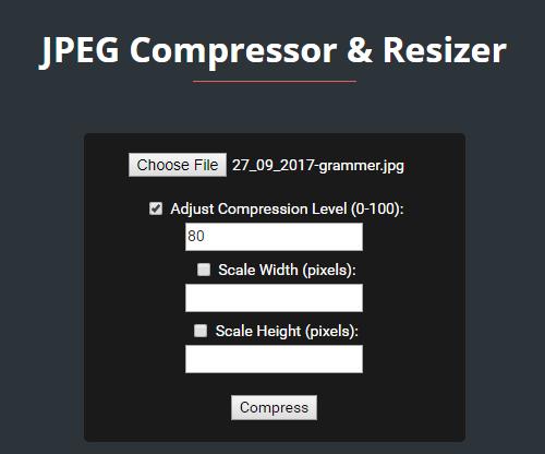 Giftofspeed JPEG compressor