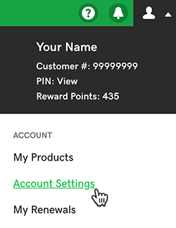 Godaddy Account setting