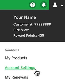 Godaddy Account setting