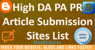 Best 100+ High PR Article Submission Sites List 2019