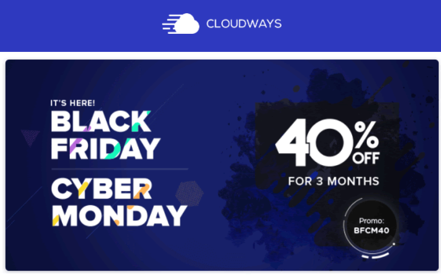 Cloudways Black Friday, Cloudways Coupon, Cloudways Promo Code