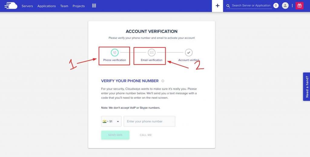 Cloudways account verification