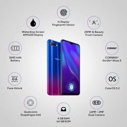 OPPO K1 (Astral Blue, 64 GB) (4 GB RAM)