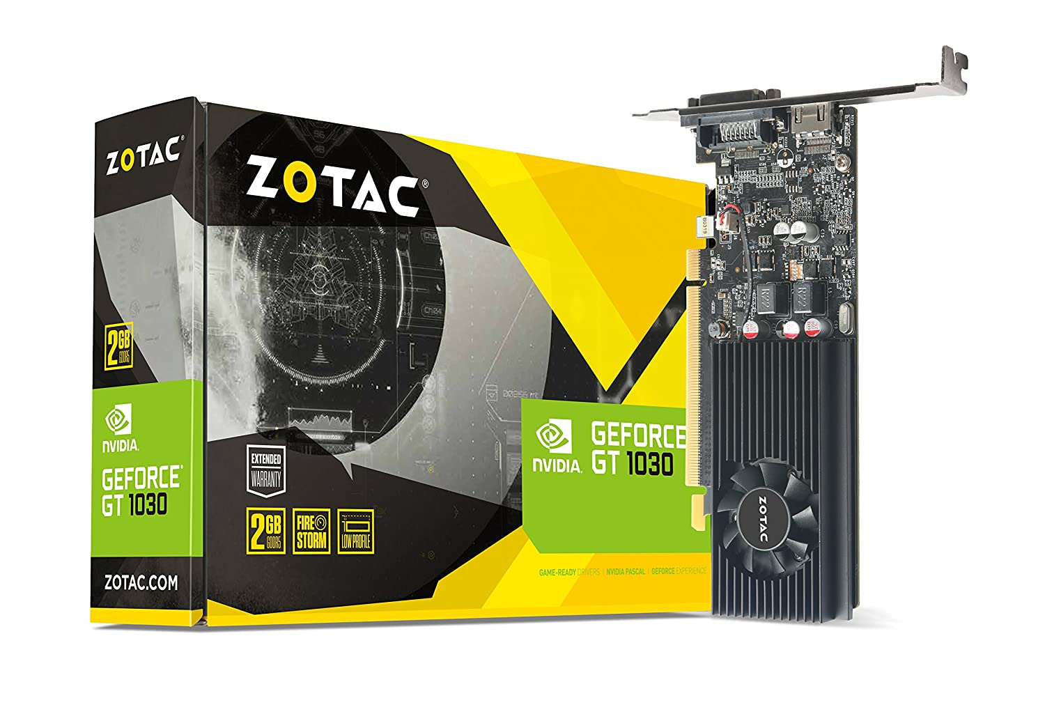 Zotac GeForce GT 1030 2GB GDDR5 Graphics Card with GeForce Experience